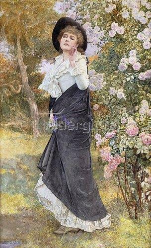 Marcus Stone: Zeit der Rosenblüte. 1891