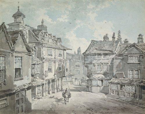 Joseph Mallord William Turner: Market Street, Lichfield.