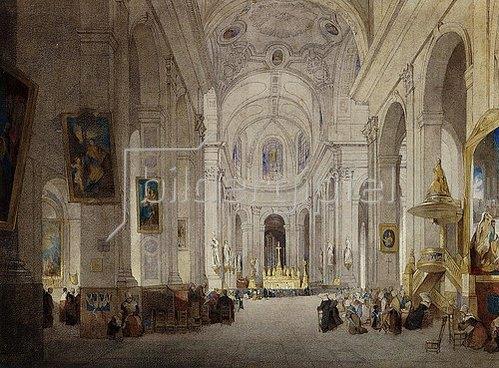 John Scarlett Davis: St. Sulpice, Paris.