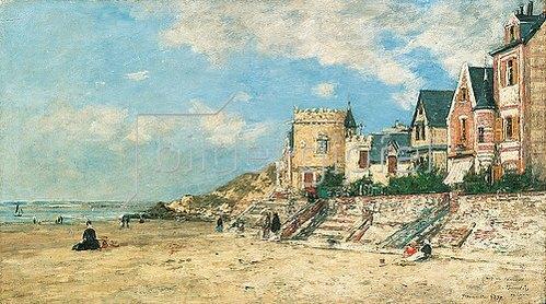 Eugène Boudin: Tour Malakoff und Ufer in Trouville. 1878