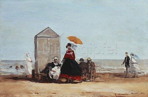 Eugène Boudin: Am Strand von Trouville (Sur la Plage de Trouville). 1865
