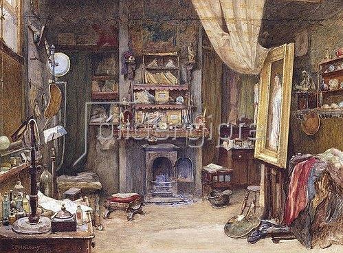 Charles Edward Holloway: Das Atelier des Künstlers. 1885