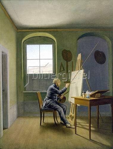Georg Friedrich Kersting: Caspar David Friedrich im Atelier. 1819.
