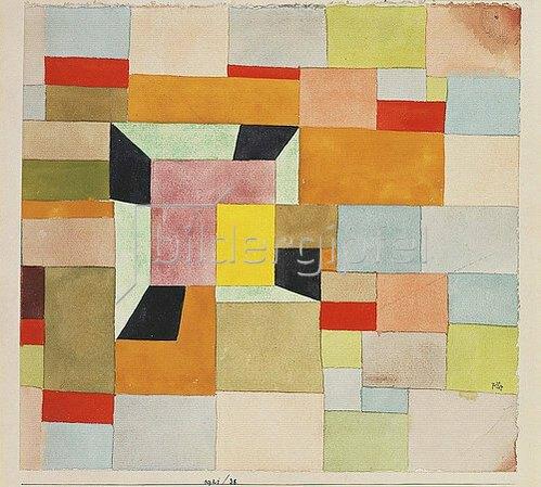 Paul Klee: Aufgeteilte Farbvierecke. 1921