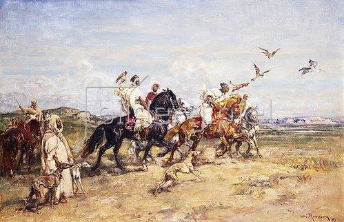 Henri Emilien Rousseau: Die Falkenjagd (La Chasse au Falcon). 1923