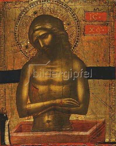 Jacobello di Bonomo: Christus am Grab mit einem dominikanischen Mönch.