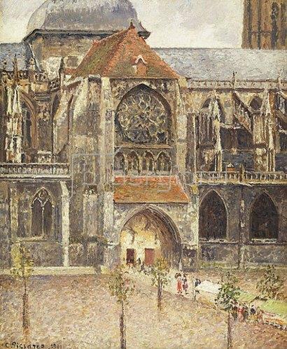 Camille Pissarro: Portal der Kirche Saint-Jaques in Dieppe. 1901