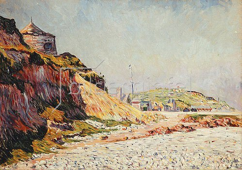 Paul Signac: Port-en Bessin, am 14. Juli. 1883