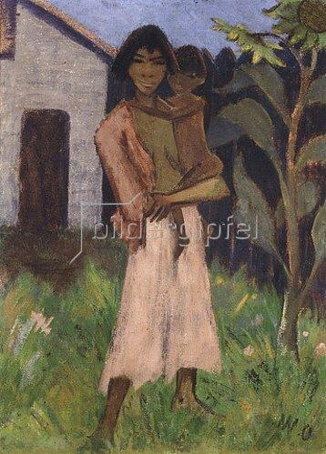 Otto Mueller: Stehende Zigeunerin mit Kind. 1927