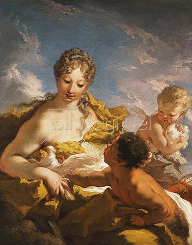 Giovanni Antonio Pellegrini: Venus, Armor und ein Faun. Zwischen 1708-13