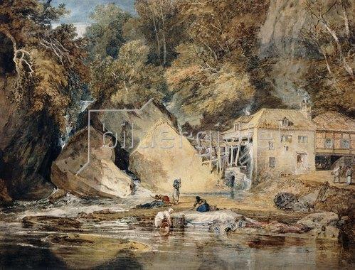 Joseph Mallord William Turner: Aberdulais Mill, Glamorganshire, Wales. 1796-97