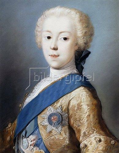 Rosalba Carriera: Brustbild des Prinzen Charles Edward Stuart.