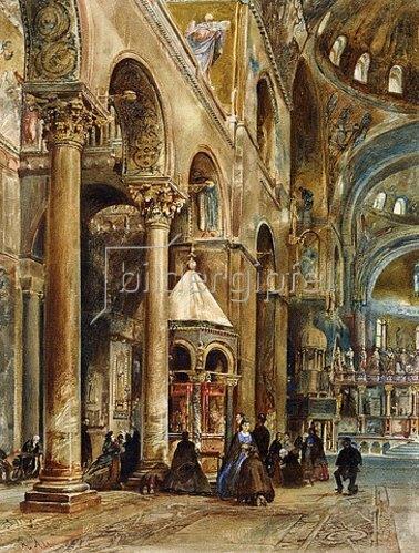Rudolf von Alt: Innenansicht von San Marco, Venedig. 1884