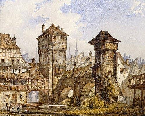 Angelo Quaglio: Ansicht von Nürnberg. 1856