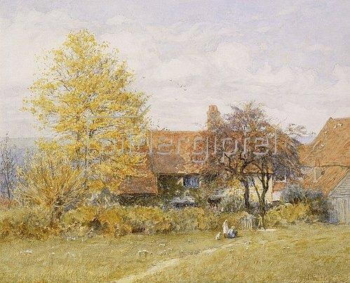 Helen Allingham: Old Wyldes Farm, Hampstead.