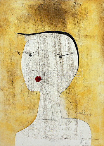 Paul Klee: Versiegelte Dame. 1930