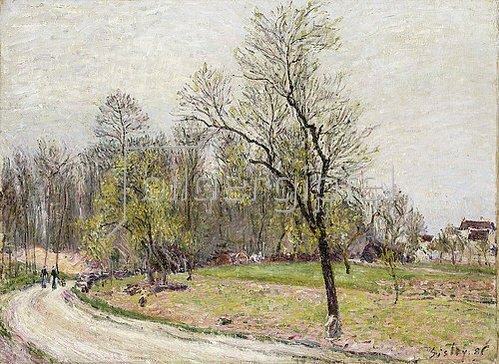 Alfred Sisley: Waldrand an einem Frühlingsabend (La Lisière de la Foret au Printemps, le Soir). 1886