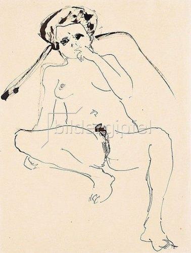 Ernst Ludwig Kirchner: Liegender Akt. 1919