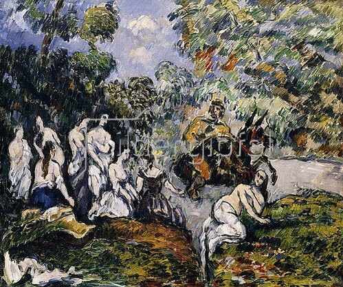 Paul Cézanne: Scène Légendaire (Die Figur auf dem Pferd soll Sancho Panza, der Begleiter von Don Quichotte sein). Um 1878