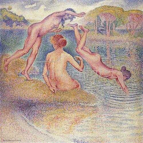 Henri Edmond Cross: Die Badenden (Badevergnügen). Zwischen 1899 und 1902