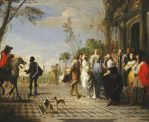 Hieronymus Janssens: Das Gleichnis vom verlorenen Sohn - der Abschied von zu Hause.