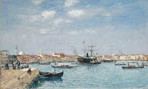 Eugène Boudin: Der Canal Grande in Venedig. 1895