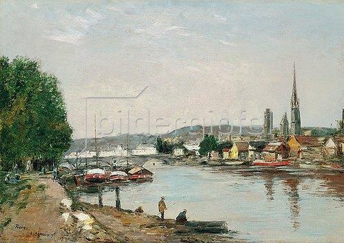 Eugène Boudin: Rouen, Blick vom Cours de la Reine. 1895