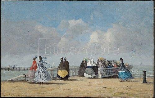 Eugène Boudin: Kai in Trouville. 1864