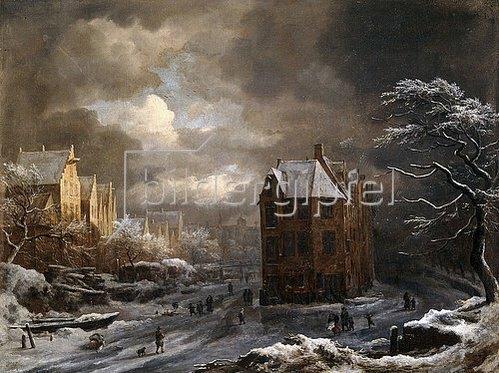 Jacob Isaacksz van Ruisdael: Hekelveld, Amsterdam, im Winter.