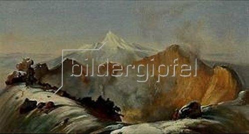 Johann Moritz Rugendas: Der Krater des Vulkans Colima. Um 1830.