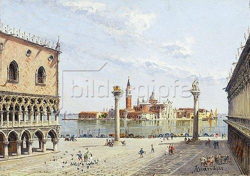 Antonietta Brandeis: Der Markusplatz in Venedig mit San Giorgio Maggiore im Hintergrund.