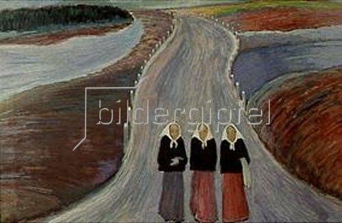 Marianne von Werefkin: Die Landstraße. 1907.