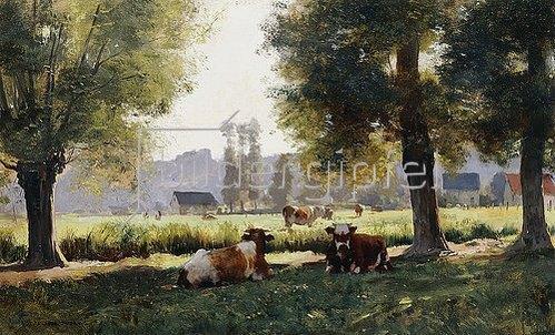 Julien Dupré: Weidende Kühe in Arques-la Bataille, Normandie.