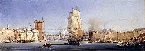 Antoine Léon Morel-Fatio: Die Hafeneinfahrt von Konstantinopel.