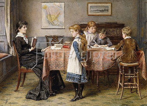 George Goodwin Kilburne: Die Unterrichtsstunde. 1892