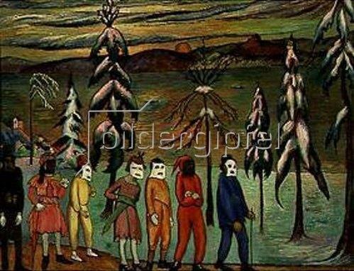 Marianne von Werefkin: Masques de village (Masken aus dem Dorf) 1920.