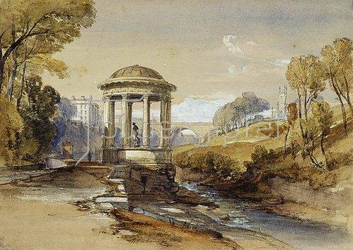 William Leighton Leitch: St Bernard's Well, Water of Leith, nahe Edinburgh, Schottland.