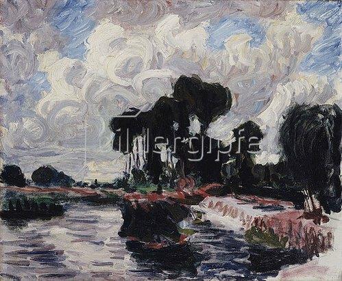 Roderick O'Connor: Der Damm in Montigny (Le Barrage à Montigny). 1902