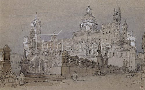 David Roberts: Die Kathedrale von Palermo. Um 1854