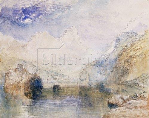 Joseph Mallord William Turner: Der Lauerzersee im Kanton Schwyz, den Mythen im Hintergrund.