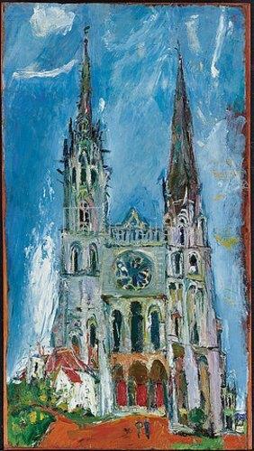 Chaim Soutine: Die Kathedrale von Chartres (La Cathedrale de Chartres). 1933