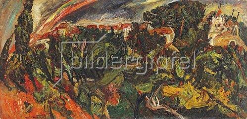 Chaim Soutine: Regenbogen in Ceret (L'arc en ciel, Ceret). Um 1920
