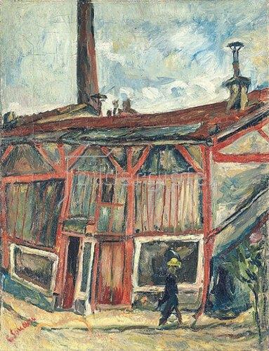 Chaim Soutine: Das Atelier des Künstlers in der Cité Falguière (L'atelier de l'artiste a la Cité Falguière). Um 1915-1916