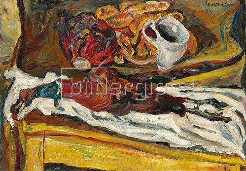 Chaim Soutine: Fasan mit Kohl (Le faisan au chou). 1926-27