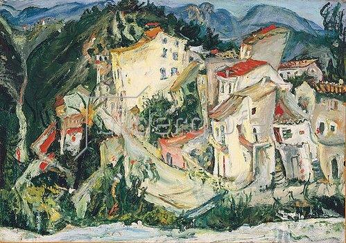 Chaim Soutine: Landschaft bei Cagnes (Paysage de Cagnes). Um 1924-25
