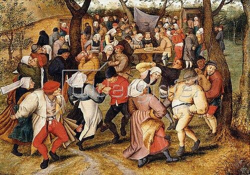 Pieter Brueghel d.J.: Der Hochzeitstanz.