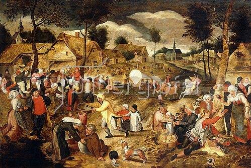 Maerten van Cleve: Dorf-Kirmes.
