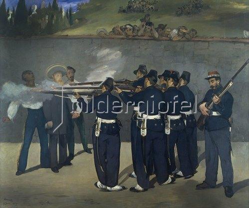 Edouard Manet: Die Erschießung Kaiser Maximilians von Mexico 1867.