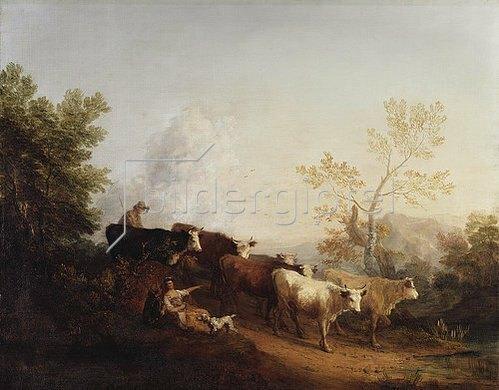 Thomas Gainsborough: Abendstimmung. Das Vieh kehrt von der Weide zurück.