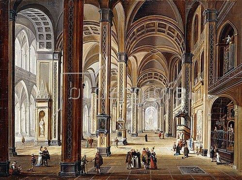 Christian Stöcklin: Interieur einer Renaissance Kirche.